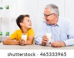 Grandfather And Grandson Are...