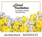 romantic invitation. wedding ... | Shutterstock . vector #465334115