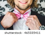 man the groom in a wedding... | Shutterstock . vector #465335411