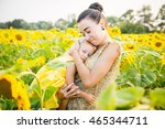 happy mother with the daughter... | Shutterstock . vector #465344711