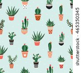 Seamless Pattern With Cacti An...