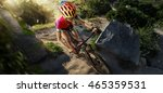 sport. country cyclist. top view | Shutterstock . vector #465359531