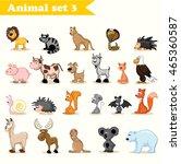 set of cute cartoon animals | Shutterstock .eps vector #465360587