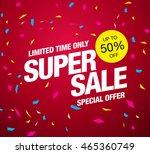 super sale banner. sale poster | Shutterstock .eps vector #465360749
