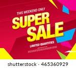 super sale banner. sale poster | Shutterstock .eps vector #465360929