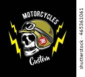 skull helmet  | Shutterstock .eps vector #465361061