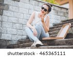 teenager lifestyle   young... | Shutterstock . vector #465365111