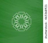 teamwork outline vector icon....