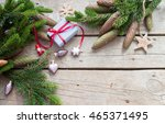 christmas background with fir... | Shutterstock . vector #465371495