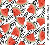 seamless pattern   cute cartoon ... | Shutterstock . vector #465375635