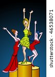 cartoon of women dancing... | Shutterstock . vector #46538071