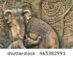 Stone Carved Elephants From...
