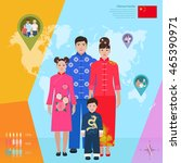 chinese family in national... | Shutterstock .eps vector #465390971