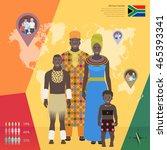 african family in national... | Shutterstock .eps vector #465393341