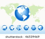 set globe rotation on a map | Shutterstock . vector #46539469