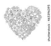 zentangle abstract flower.... | Shutterstock .eps vector #465396395