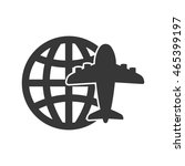global airplane silhouette... | Shutterstock .eps vector #465399197