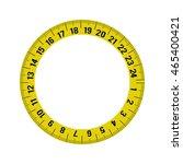 meter circle yellow tape...
