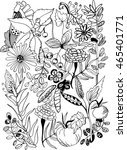 coloring book page. hand drawn... | Shutterstock .eps vector #465401771