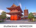 sensoji temple in asakusa ... | Shutterstock . vector #465402104