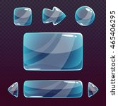 transparent glass ui design... | Shutterstock .eps vector #465406295