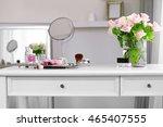 cosmetic set on light dressing... | Shutterstock . vector #465407555