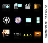 icon set photo video   Shutterstock .eps vector #46540972