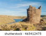 ruins of funerary towers in...   Shutterstock . vector #465412475