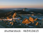 bright red rocks at sunrise in... | Shutterstock . vector #465413615