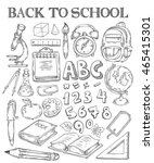 back to school hand drawn... | Shutterstock .eps vector #465415301
