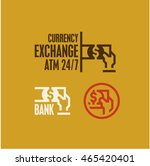 atm icon  currency exchange ... | Shutterstock .eps vector #465420401