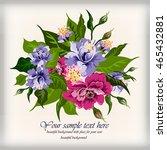 vector floral watercolor...   Shutterstock .eps vector #465432881