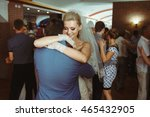 romantic first dance of the... | Shutterstock . vector #465432905