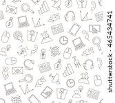 set of communication business... | Shutterstock .eps vector #465434741