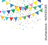 holiday background with bunting ... | Shutterstock . vector #465435185