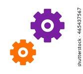 settings flat icon  | Shutterstock .eps vector #465437567