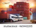 industrial container cargo... | Shutterstock . vector #465442205
