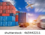 truck transport container on... | Shutterstock . vector #465442211