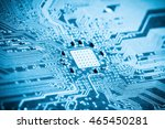 blue printed circuit board... | Shutterstock . vector #465450281