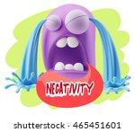 3d illustration sad character... | Shutterstock . vector #465451601