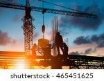 silhouette people heavy...   Shutterstock . vector #465451625