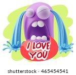 3d illustration sad character... | Shutterstock . vector #465454541