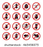 pest control. harmful insects... | Shutterstock .eps vector #465458375
