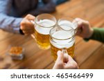 people  leisure and drinks... | Shutterstock . vector #465466499