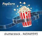popcorn cinema movie theater... | Shutterstock .eps vector #465469595