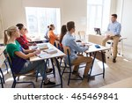 education  school and people... | Shutterstock . vector #465469841