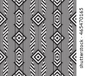 black and white geometric... | Shutterstock .eps vector #465470165