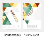 flyer design with geometric... | Shutterstock .eps vector #465476645