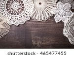 Vintage Background With White...