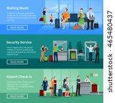airport people flat horizontal... | Shutterstock .eps vector #465480437